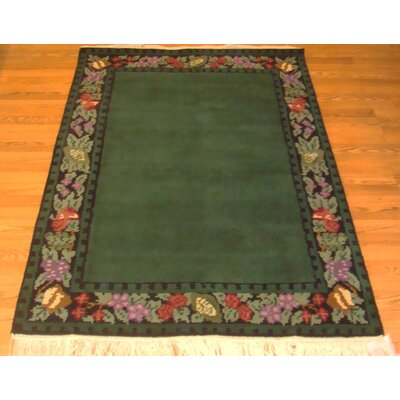 Madison Border Area Rug Rug Size: Rectangle 76 x 96