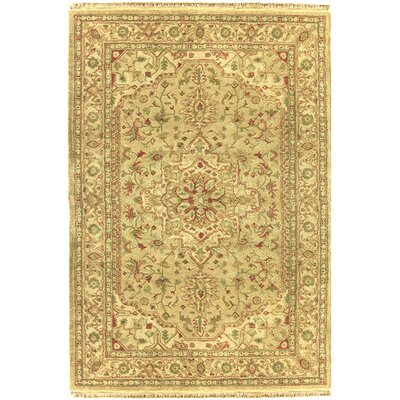 Serapi Handmade Gold Area Rug Rug Size: Rectangle 116 x 146