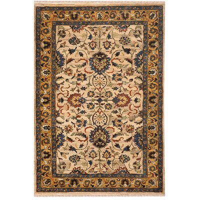 Sultanabad Handmade Beige Antique Area Rug Rug Size: 86 x 116