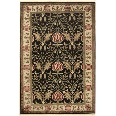 Arts and Crafts Hand-Tufted Area Rug Rug Size: Round 5