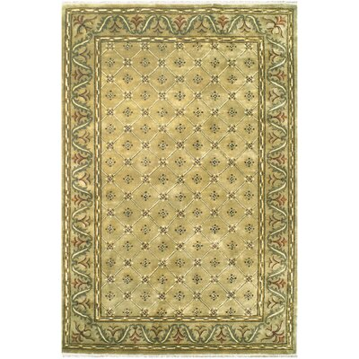 English Hand-Tufted Beige Area Rug Rug Size: 116 x 146