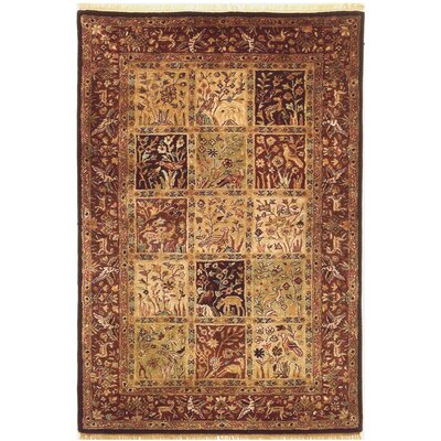 Garden Hand-Tufted Burgundy Area Rug Rug Size: Rectangle 76 x 96