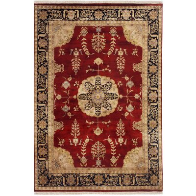 Alpha Hand-Tufted Burgundy/Red Area Rug Rug Size: 76 x 96