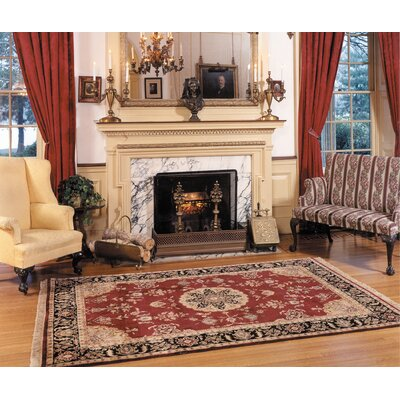 Fitz Hand-Tufted Burgundy/Red Area Rug Rug Size: Round 6 x 6