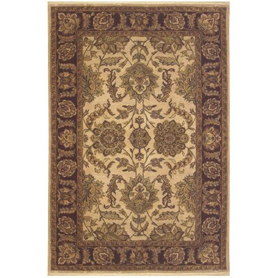 Sultanabad Hand-Tufted Beige / Antique Ivory Area Rug Rug Size: Rectangle 86 x 116