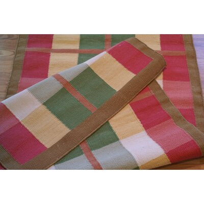 Cottage Kilim Plaid Morning Rug Rug Size: Runner 26 x 8