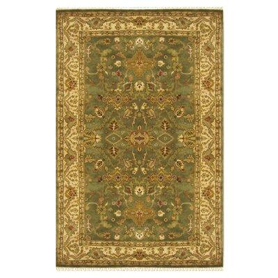 Ushak Hand-Tufted Sage/Green Area Rug Rug Size: 96 x 136