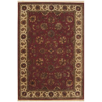 Agra Hand-Tufted Burgundy Area Rug Rug Size: Rectangle 56 x 86