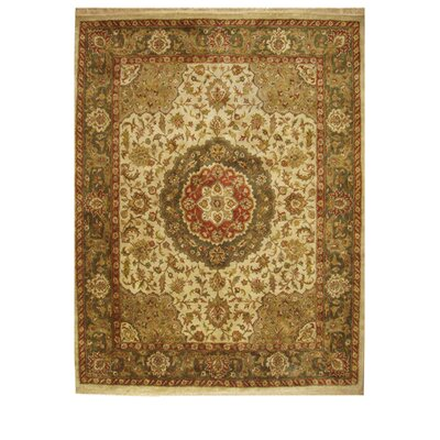 Alpha Hand-Tufted Beige/Ivory Area Rug Rug Size: Rectangle 76 x 96