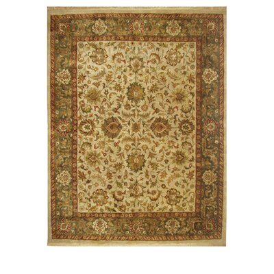Alpha Rectangle Hand-Tufted Beige/Ivory Area Rug Rug Size: 56 x 86