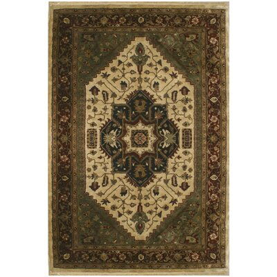 Serapi Hand-Tufted Ivory/Beige Area Rug Rug Size: Rectangle 36 x 56