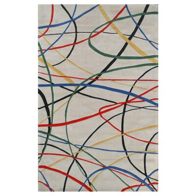 Hand-Tufted Ivory Area Rug Size: Rectangle 36 x 56