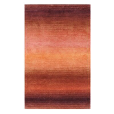 Hand-Tufted Rust Area Rug Rug Size: 86 x 116