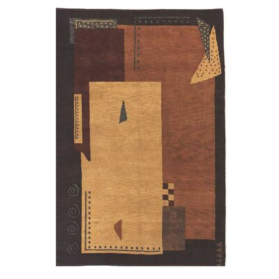 American Home Modern Tiban Terracotta/Brown Area Rug Rug Size: 36 x 56