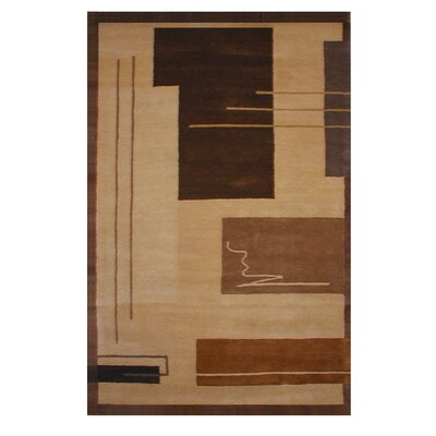 American Home Metro Gold/Brown Area Rug Rug Size: 86 x 116