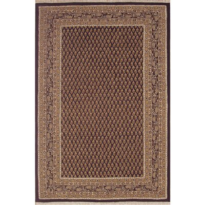 American Home Classic Mir Black/Gold Area Rug Rug Size: 3 x 5