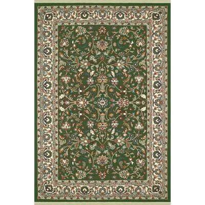 American Home Classic Kashan Emerald/Ivory Area Rug Rug Size: 56 x 86