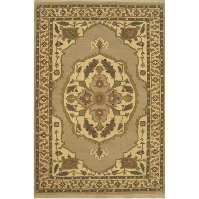 American Home Classic North West Taupe/Beige Area Rug Rug Size: 36 x 56