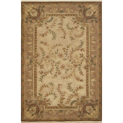 American Home Classic Beige Area Rug Rug Size: 56 x 86