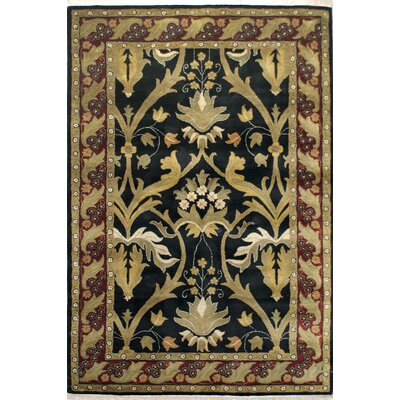 American Home Classic Arts & Crafts Black/Burgundy Area Rug Rug Size: Runner 26 x 10