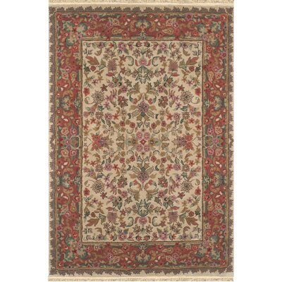 American Home Classic Tabriz Antique Ivory/Rose Area Rug Rug Size: Runner 26 x 8
