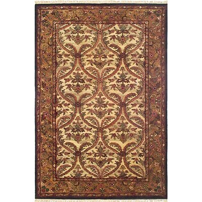 American Home Classic Agra Beige/Gold Area Rug Rug Size: 76 x 96