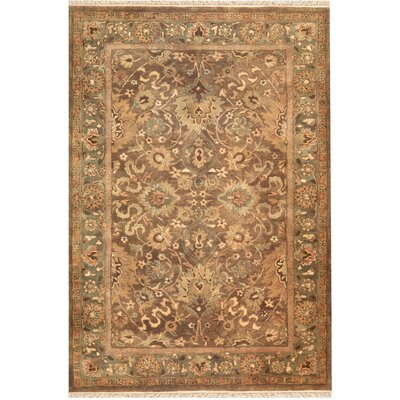 American Home Classic Mahogany Esfahan Brown/Sage Area Rug Rug Size: 96 x 136