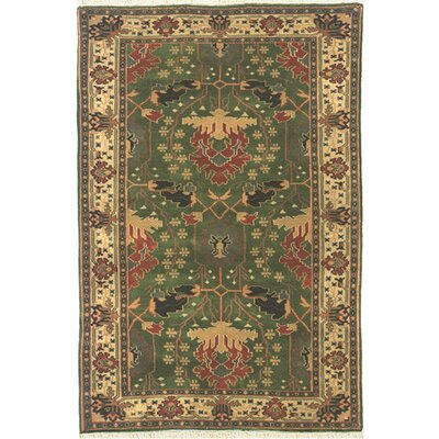American Home Classic Donagle Emerald/Ivory Area Rug Rug Size: Runner 26 x 10