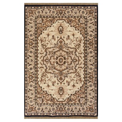 American Home Classic Heriz Taupe/Black Area Rug Rug Size: Runner 26 x 8