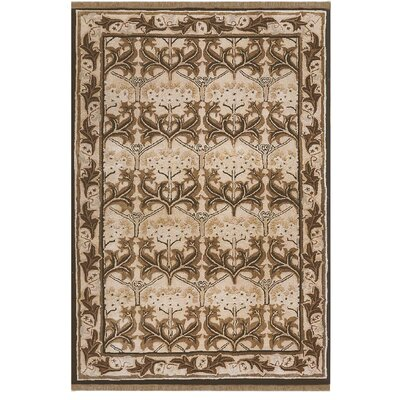 American Home Classic Arts & Craft Taupe/Black Area Rug Rug Size: 2 x 4