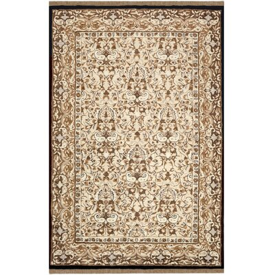 American Home Classic Sivas Taupe/Black Area Rug Rug Size: 4 x 6