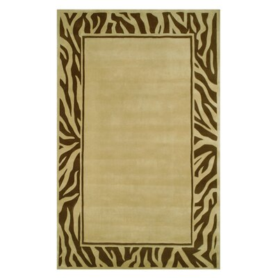 Modern Border Area Rug Rug Size: Rectangle 8 x 11