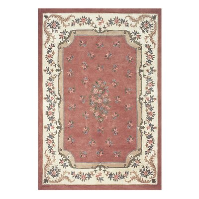 Floral Garden Red/Pink Area Rug Rug Size: Rectangle 56 x 86