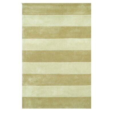 Harrietstown Stripes Hand-Tufted Beige Area Rug