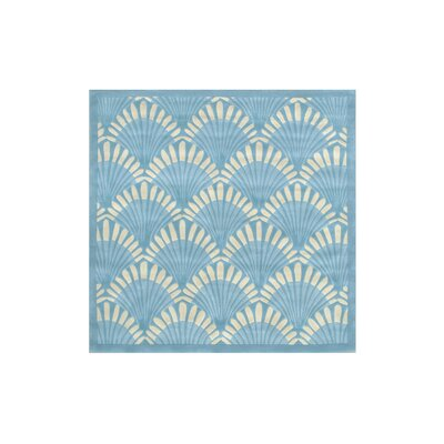 Aalin Shell Hand-Tufted Blue Area Rug