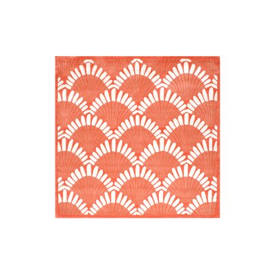 Aalin Shell Hand-Tufted Orange Area Rug