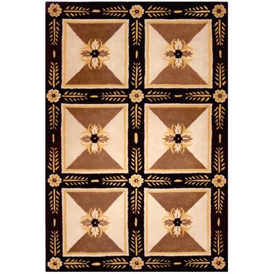 Mansfield Hand-Tufted Beige Area Rug Rug Size: Rectangle 56 x 86