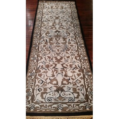 American Home Classic Sivas Taupe/Black Area Rug Rug Size: Runner 2'6