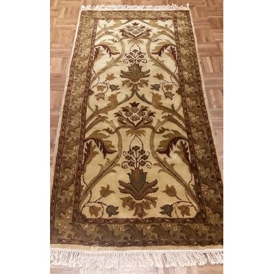 American Home Classic Arts & Crafts Antique Ivory & Sage Area Rug Rug Size: Runner 26 x 6