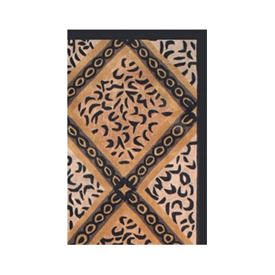 African Safari Skins/Black Imperial Safari Animal Area Rug Rug Size: 36 x 56