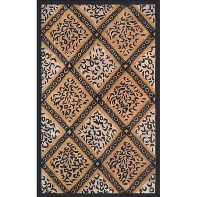 African Safari Skins/Black Imperial Safari Animal Area Rug Rug Size: 5 x 8
