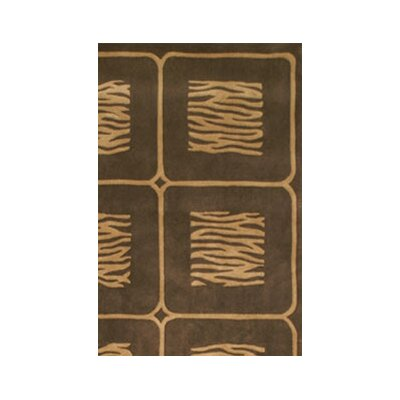 African Safari Beige/Brown Animal Magnetism Area Rug Rug Size: 8 x 11