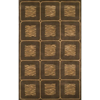 African Safari Beige/Brown Animal Magnetism Area Rug Rug Size: 5 x 8