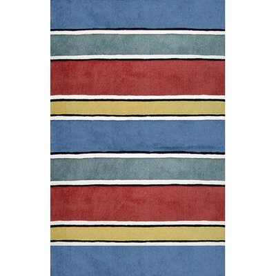 Beach Rug Gem Multi Ocean Stripes Rug Rug Size: Runner 2