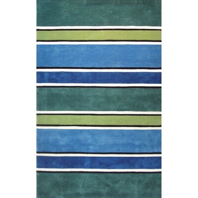 Beach Rug Tropic Multi Ocean Stripes Rug Rug Size: Runner 26 x 12