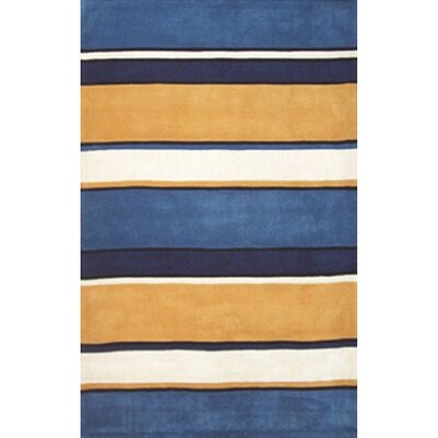 Beach Sunny Ocean Stripes Area Rug Rug Size: Runner 26 x 12