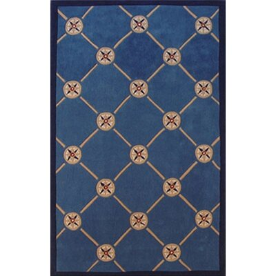 Beach Rug Dark Blue Compass Novelty Rug Rug Size: 36 x 56