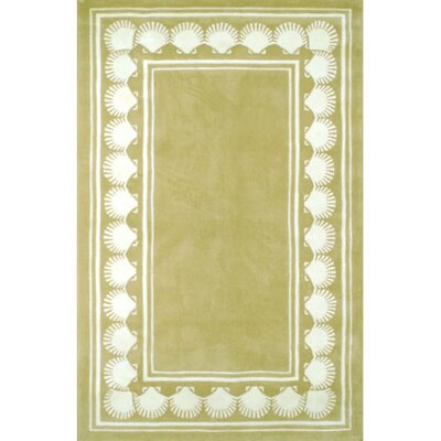 Beach Rug Shell Border Seashore Novelty Rug Rug Size: Square 6