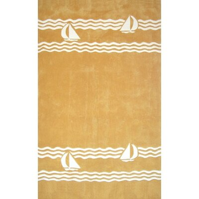 Beach Rug Yellow Sailboat Novelty Rug Rug Size: 5 x 8