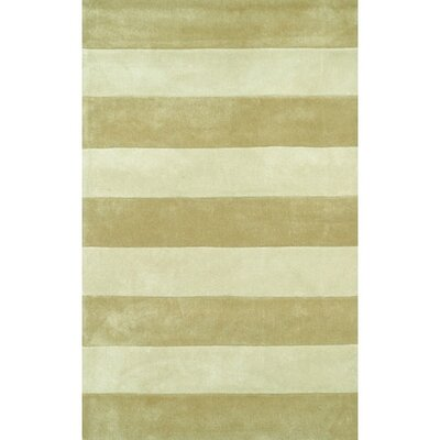 Beach Sand/Ivory Boardwalk Stripes Area Rug Rug Size: 5 x 8